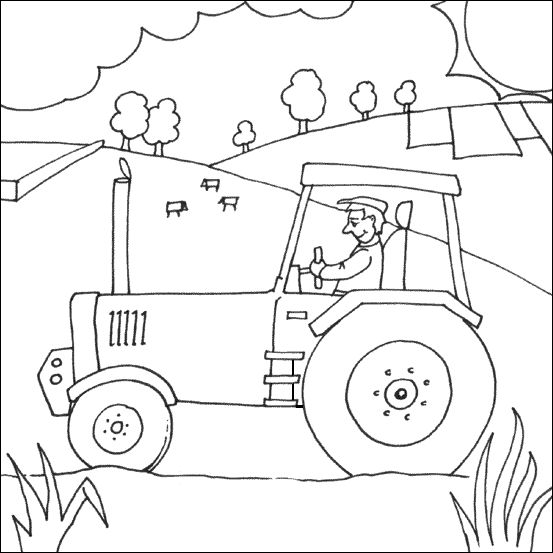 Tractor Coloring Pages Pdf : Tractor coloring printable transportation