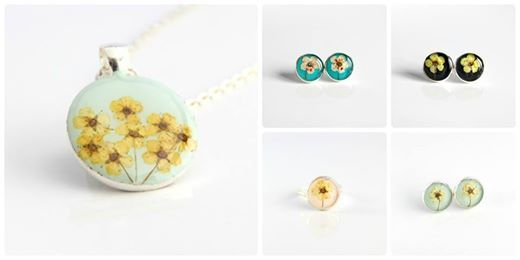 resin jewelry, resin, real flower jewelry, mint, bridal wreath, zingy, bijuterii cu flori naturale, flori de cununita https://www.facebook.com/ZingyAccessories