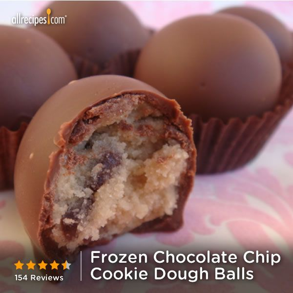 """Frozen Chocolate Chip Cookie Dough Balls 