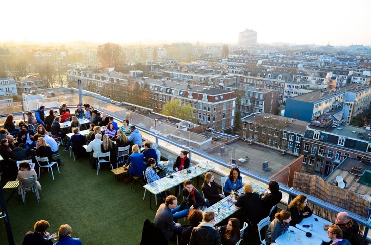 Canvas - club/restaurant on the 7th floor of the Volkshotel. Rooftop terrace, chill vibes and what is the most important: legendary events. #amsterdam #canvas #volkshotel #rooftop