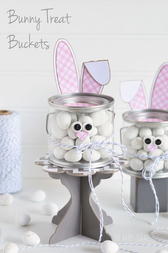 Bunny Treat Bucket - The Happy Scraps