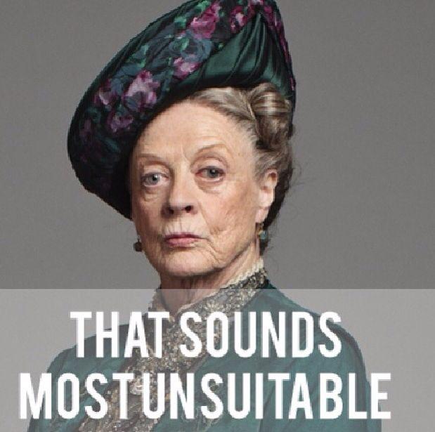 Maggie Smith Downton Abtei