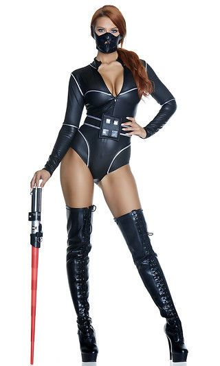 Forceful Sexy Movie Character Costume Bodysuit Star Wars Darth Vader Cosplay NEW #Forplay #BodysuitLongSleeved #CosplayHalloweenCostumeEvents