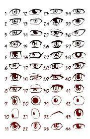 yeux manga homme