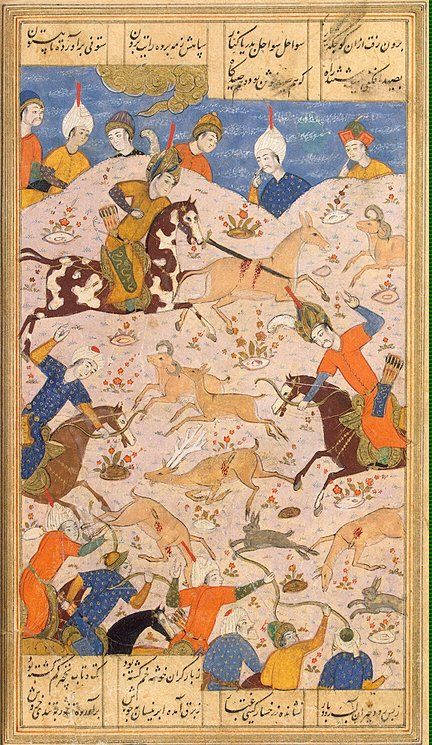 The-Battle-of-Iskander-with-the-Ruses.jpg (432×745) Miniatures, Gouache, 18.2x13.6 cm Origin: Iran, 1541 Album: The Khamsa by Nizami Personage: Alexander the Great Source of entry: purchased from V.R. Gardin, 1945 Theme: Literature