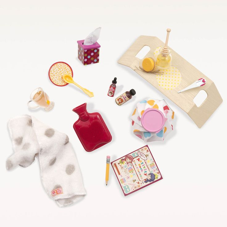 Our Generation dolls like to look after their friends when they're feeling unwell. This Our Generation accessories set has everything your dolls to look after a friend in need.
