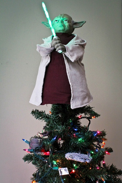Star Wars Christmas - thought I didn't have room for a Star Wars Theme tree, but it was pointed out that Yoda kind of looks like an elf.