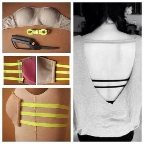 Adaptación de un sostén para blusas sin espalda.