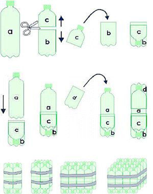 Сделать пуфик своими руками из пластиковых бутылок