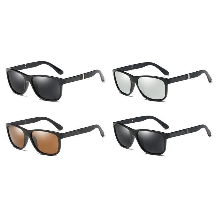 Peekaboo mens polarised sunglasses men 2018 with box matte black square sun glasses for men polarized driving uv400