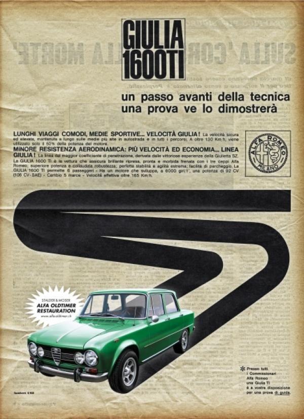 Vintage Alfa Romeo ads