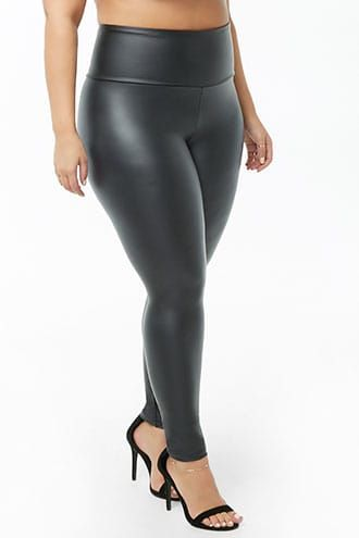 dc4c18e2a20bdb Plus Size Faux Leather Leggings | Products in 2019 | Plus size ...