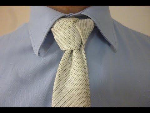 Tie one on with the Modified Trinity Knot with the tail down for your necktie.  How to videos on over 100 Neckite Knots