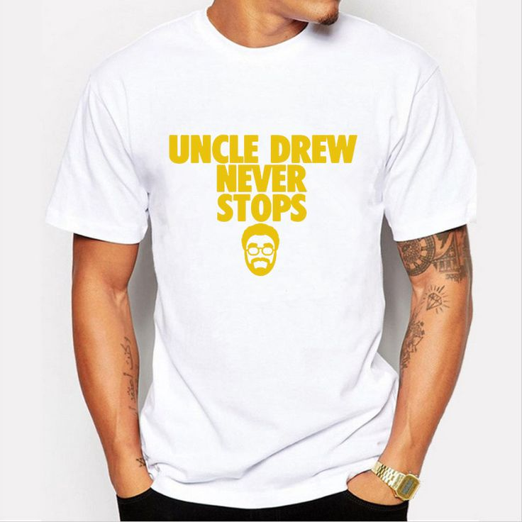 2016 New novelty Kyrie Irving t shirt men's uncle Drew jersey O neck short-sleeve male cotton Tees shirts#kyrie irving jersey