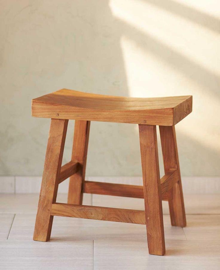 Reclaimed Teak Saddle Seat Stool Teak Stools And Hand