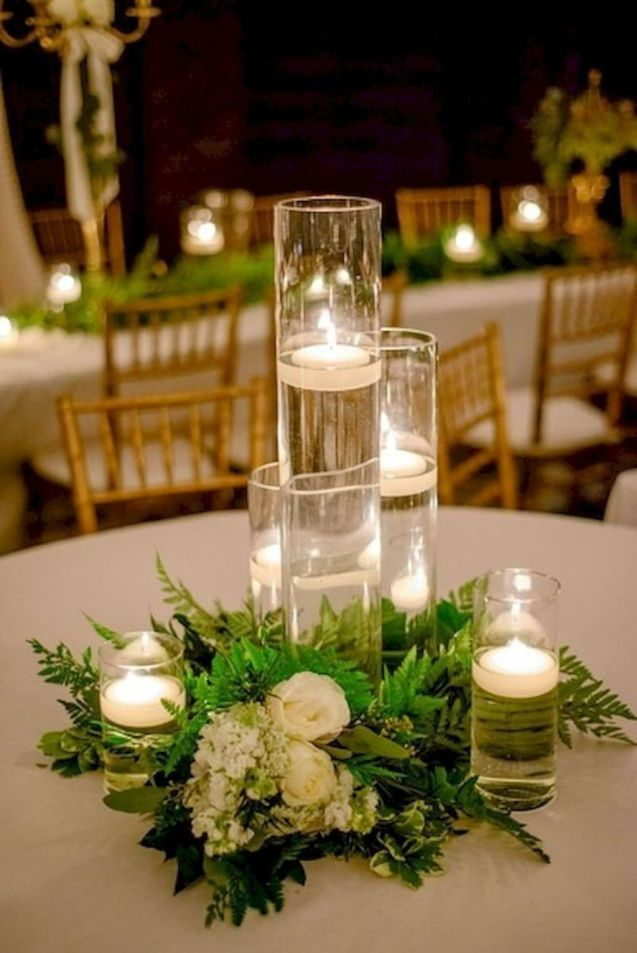 Affordable Wedding Centerpieces Ideas On A Budget43 Affordable Wedding Centerpieces Wedding Candles Table Wedding Table Centerpieces