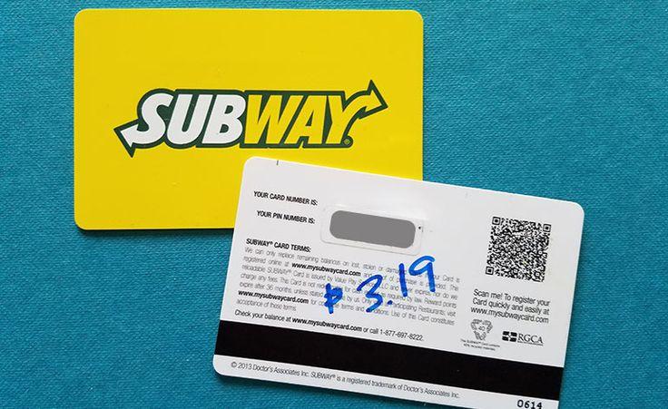 How to check subway gift card balance at
