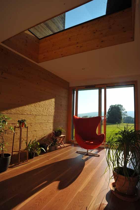 Modern Honka Fusion home in France. Honka log homes.