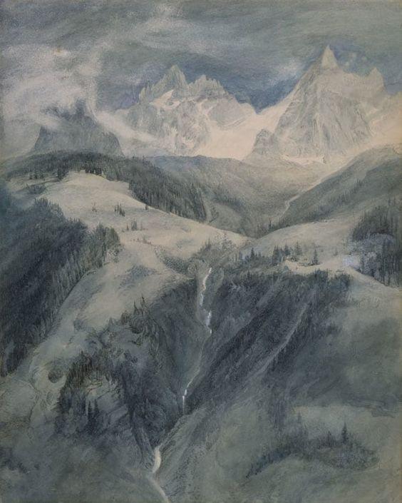 John Ruskin (1819-1900), Cascade de la Folie