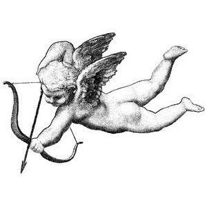 Raffaello's cherub/Cupid- CLING STAMP for acrylic block by Cherry Pie Art Stamps