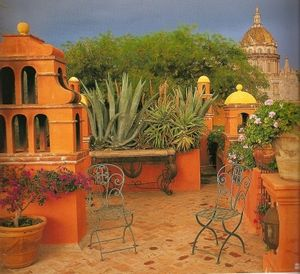 17 best images about garden patio on pinterest gardens for Terrazas mexicanas