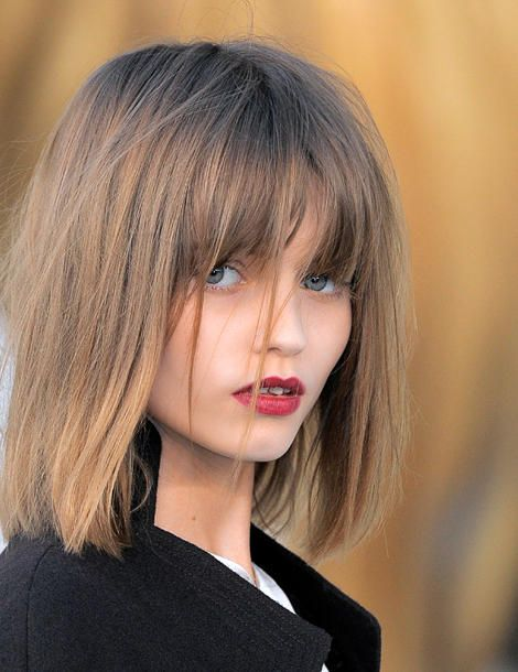 what i thought i would look like with bangs...i did not look like this.