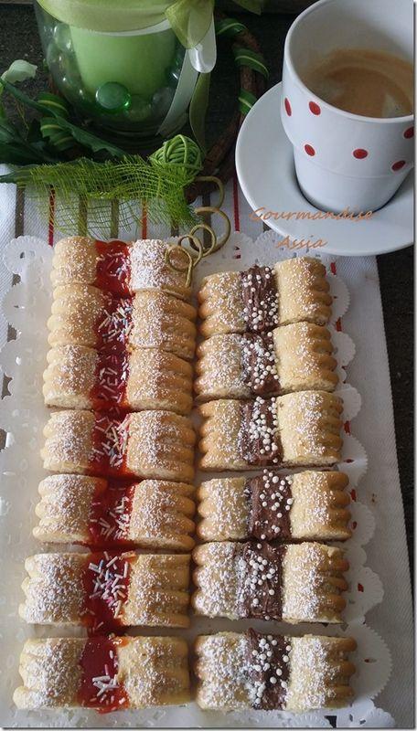 Biscuits a la confiture et nutella