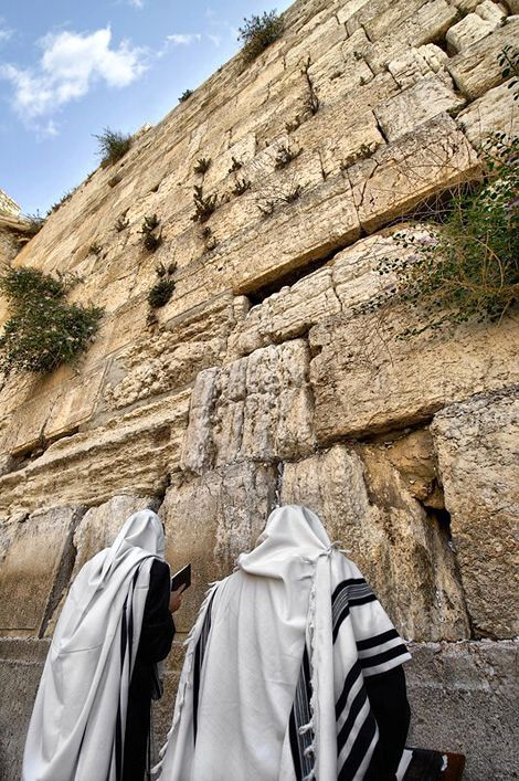 """Kotel: The Western Wall (also known as the """"Wailing Wall"""") in the Old City of Jerusalem."""