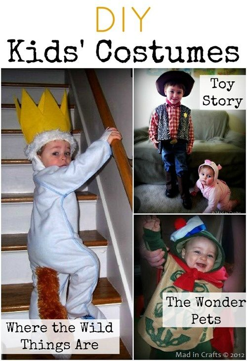 DIY Kids Costumes: Where the Wild Things Are, Toy Story, and Wonder Pets
