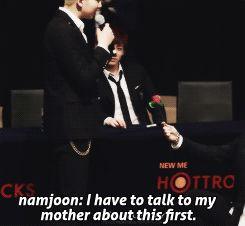 BTS, Jimin proposing to Namjoon. Kookie looks so jealous..