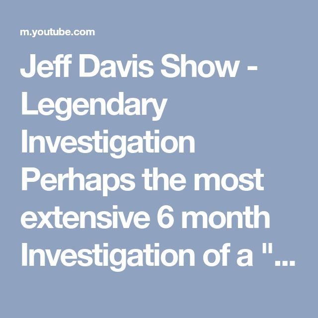 "Jeff Davis Show  - Legendary Investigation  Perhaps the most extensive 6 month Investigation of a ""Criminal"" American County law enforcement apparatus   This 2 hour YouTube details the  Rampant police & court ""Terrorism"" by Williamson County Texas law enforcement   Rocked Texas for months   Texas news media interest   ""Williamson County Texas law enforcement is organized crime, and Arguably  the most Criminal County in America"" - Jeff Davis   #jeffdavisshow  Legendary Media"
