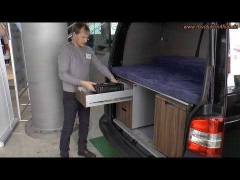 Camping Module für VW T5/T6 und Kompaktvans bietet der kleine Hersteller Qubiq aus Salzburg an. Weitere Details auch hier: http://www.revolution4five.de/qubi...