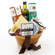Australian Classic Gift Basket  Finally, a basket of gourmet treats from the land down under! This homage to upside-down living contains scrumptious Australian cheeses and other specialties