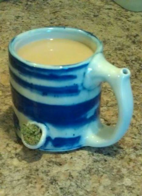 Wake N Bake Coffee Cup Weed Pipe Im Sorry But This Is Cool D Oh Pinterest Cans And Pipes