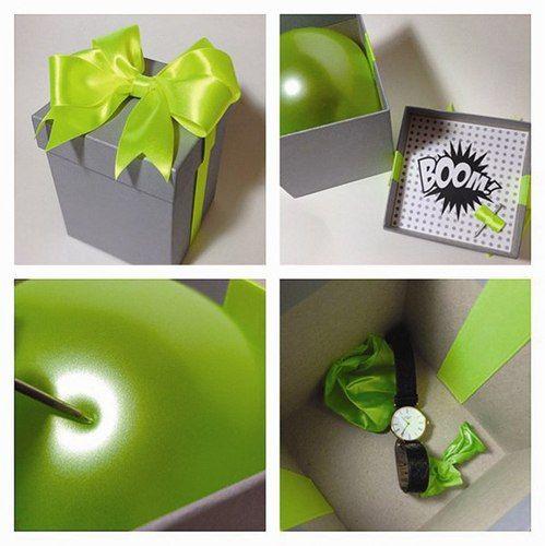 Ideal para dar otro toque a un regalo✅ #globo #caja #sorpresa