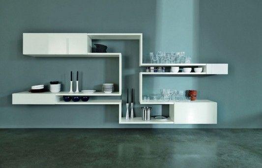 Lago Linea modular wall shelving creative modern design