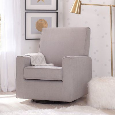 Delta Children Ava Nursery Glider Swivel Rocker Chair (Choose Your Color)