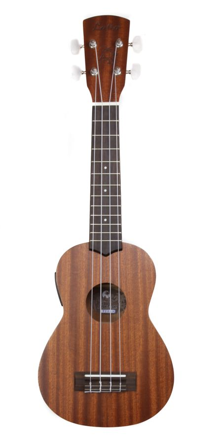 Laka VUS50 Solid Mahogany Top Soprano Ukulele with built in Tuner