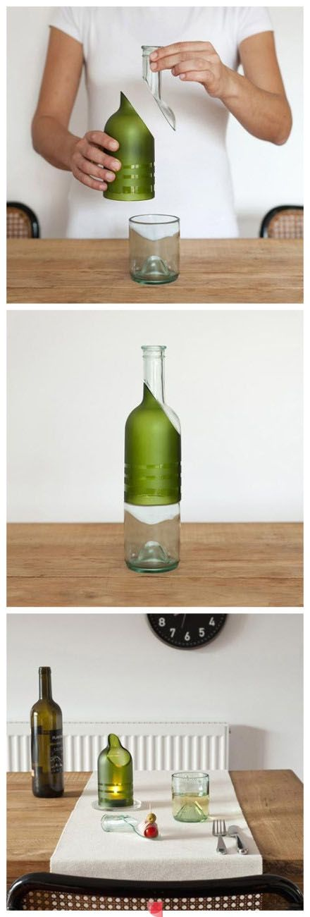 113 best images about bottle craft on pinterest glass for Wine bottle crafts for sale