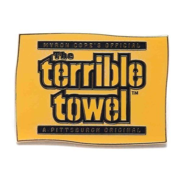 picture of pittsburgh steelers terrible towel lapel pin - Pittsburgh Steelers Merchandise