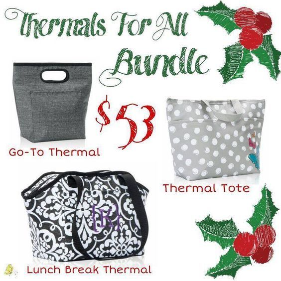 Thirty-One Gifts – Thermal Bundle! #ThirtyOneGifts #ThirtyOne #Monogramming #Organization #DecemberSpecial #YourWayBin #MiniZipperPouch #StyleSleeve #GoToThermal #CatchAllBin