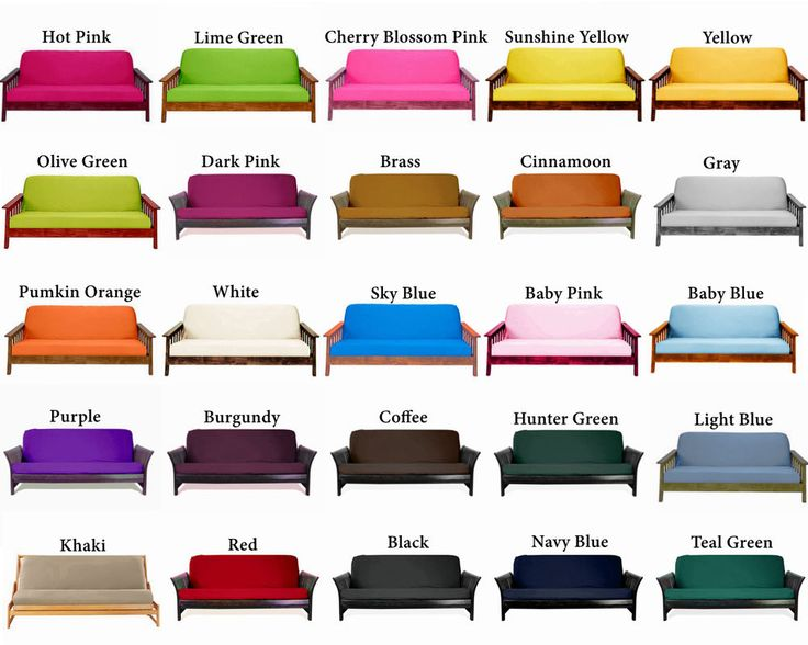 Twin Full Queen Futon Cover With Optional Pillows Free S H Choose Color And Size