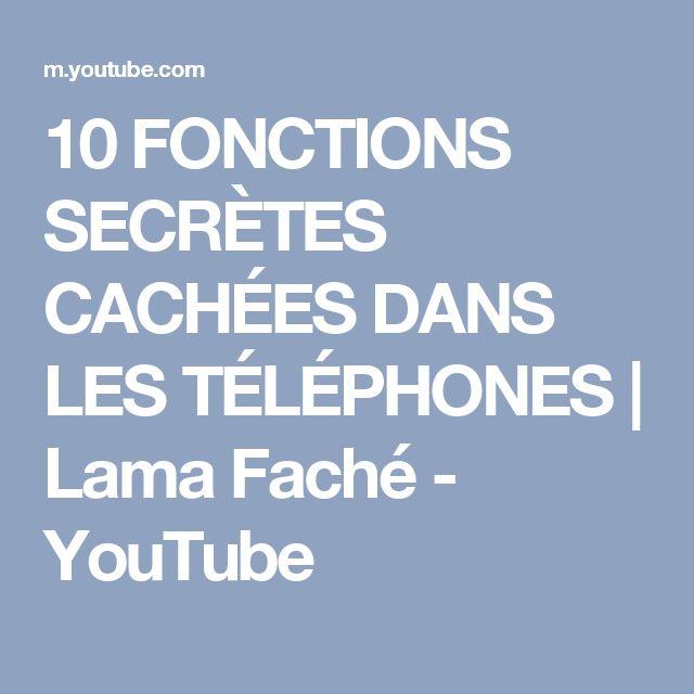 10 FONCTIONS SECRÈTES CACHÉES DANS LES TÉLÉPHONES   Lama Faché - YouTube