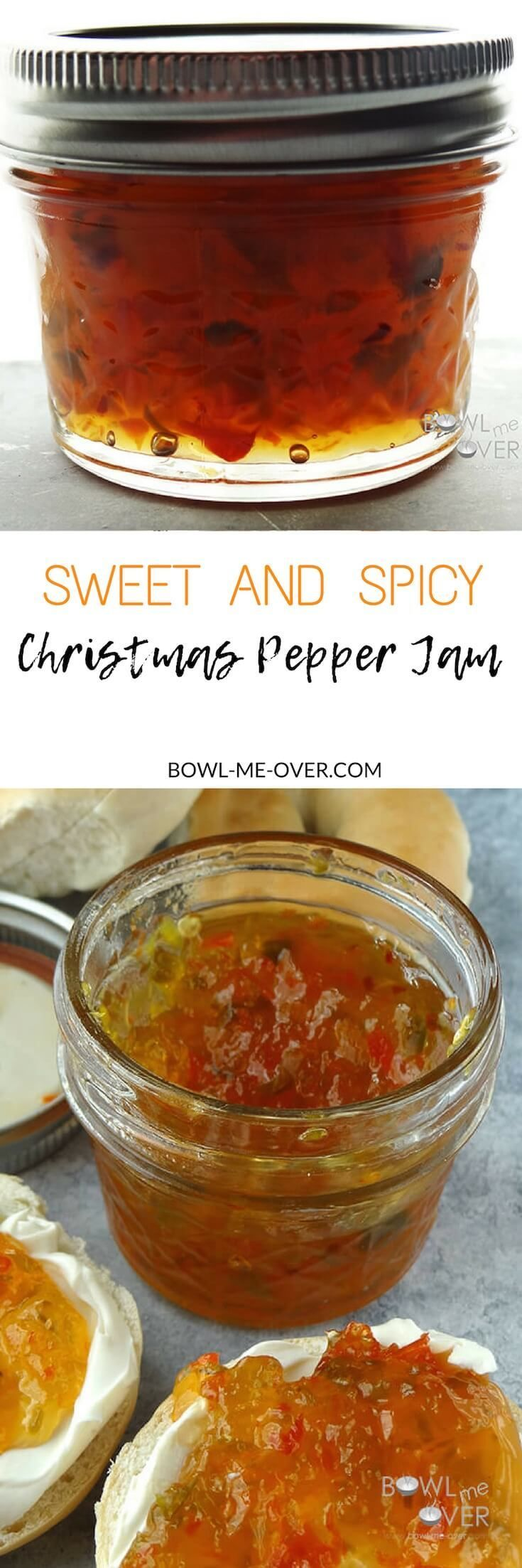 Christmas in July Pepper Jam - This jam is AMAZING. On a toasted bagel with some cream cheese and a spoonful of jam...delish!