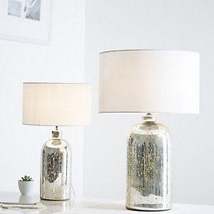 Mini Mercury Bottle Table Lamp, Silver