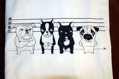 Boston terrier pug french bulldog english bulldog by rubenacker, $20.00