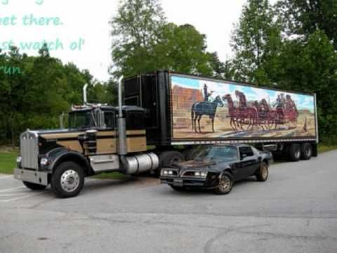 Jerry Reed-Eastboud and down lyrics - love this, popular the year we drove from Indiana to California in less than 48 hours. We were really loaded up and truckin' in our old Chevy. From Smoky and the Bandit.