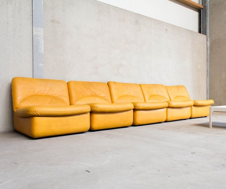 Yellow Leather Sectional Sofa: For Sale: Modular Sofa In Yellow Leather By Dreipunkt