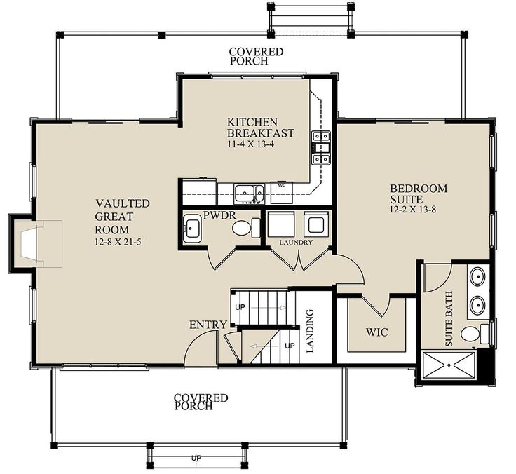 Cottage Style House Plan 3 Beds