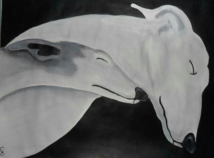 Arte galgos. De SOS Galgos